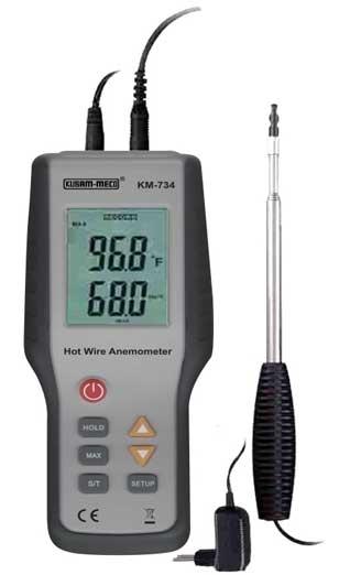 Hot Wire Thermal Anemometer  Km 734 Thermal Anemometers  Mumbai  India